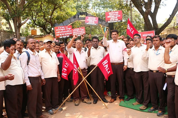 Staff strike for wage revision grounds HAL operations