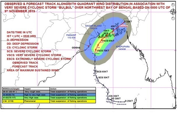 3 dead in WB, Odisha; Cyclone Bulbul moves to B'desh